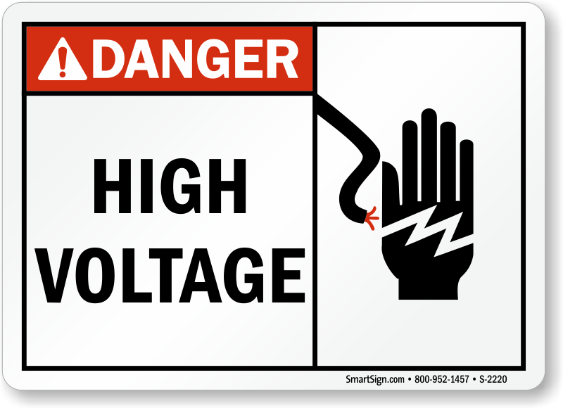 High Voltage Sign, SKU: S-2220