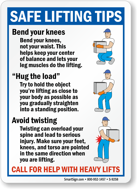 Safe Heavy Lifting Safety Poster Safety Posters Australia