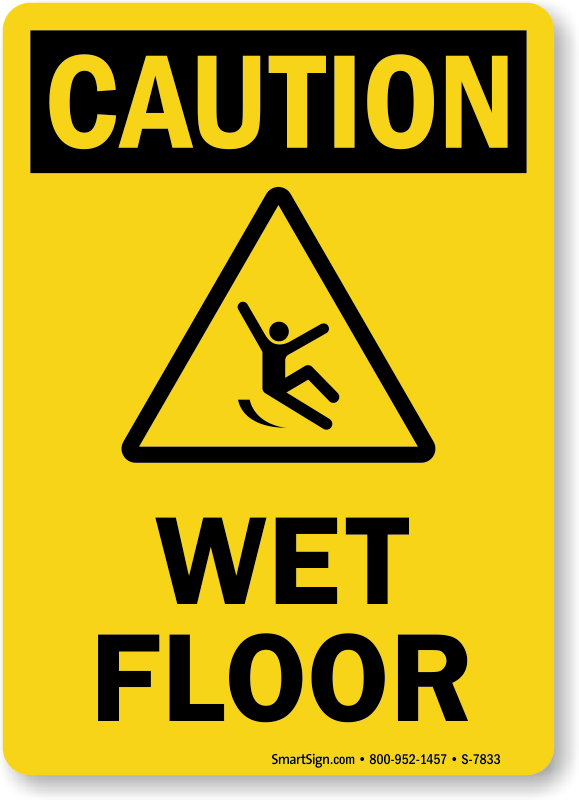 Wet Floor Caution Sign  Ships Fast and Free SKU S7833
