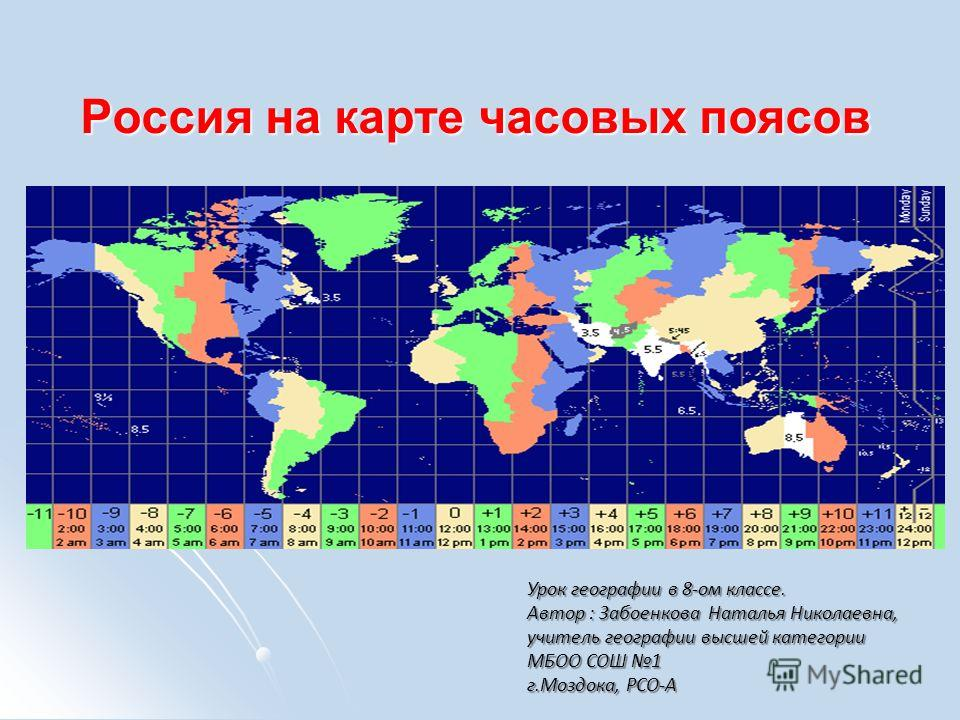 Конспект урока россии часовые пояса 4 класс