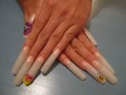 day 159 long 3- floral nail art