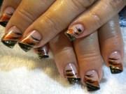 day 289 abstract fall nail art