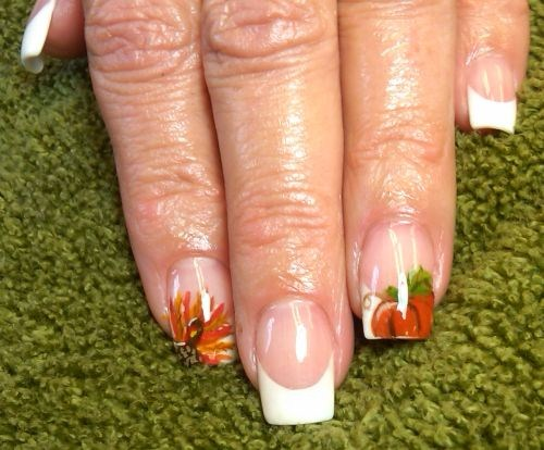 Easy Thanksgiving Nail Art Designs