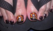 day 328 turkey toes nail art