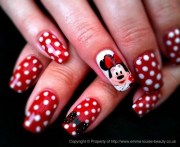 day 338 minnie mouse nail art