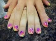 day 128 marbleized tie dye nail