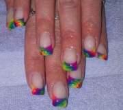 day 201 tie dye french nail art