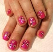 day 87 cherry blossom nail art