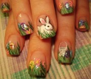 day 99 happy easter nail art