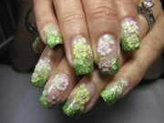day 245 3- acrylic flowers nail
