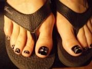 day 303 halloween black cat toenail