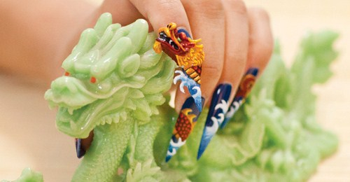 The Winner Of This Year S Dragon Nail Art Mural Artist Robert Nguyen Lent His 3 D Artistry To Month Lunar New Themed