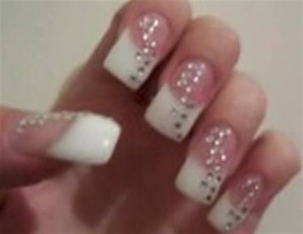 French Gel Bling Nails  Technique  NAILS Magazine