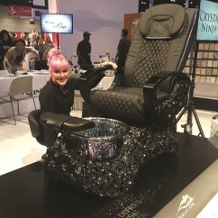 Cheap Pedicure Chairs Damask Banquet Chair Covers Whale Spa Covered In Swarovski Crystals Style P Kellie Defries Applied 15 000 Worth Of To This