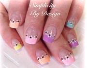 day 134 pink spring nail art