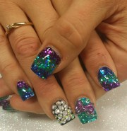 day 40 mardi gras nail art
