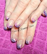 Day 135: Spring Glitter French Nail Art - - NAILS Magazine