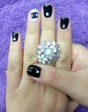 day 139 chanel-inspired nail art