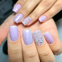 Day 147: Violet & Glitter Nail Art - - NAILS Magazine