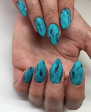 day 52 turquoise nail art