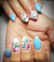 day 151 flower and festival nail