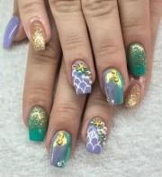 day 166 summer mermaid nail art