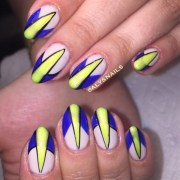 day 2 blue and yellow nail art