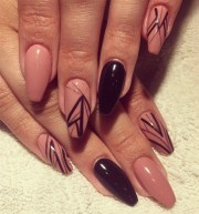 day 236 abstract lines nail art