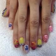 day 28 tribal & travel nail art
