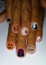 day 287 scary good halloween nail