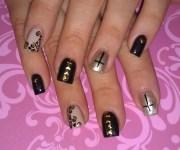 day 115 cross nail art - nails