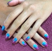 day 217 cool ombre nail art