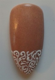 lace and bling nail art - style