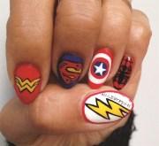 nail art superheroes