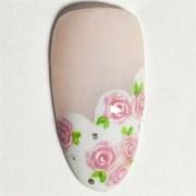 vintage shabby-chic bridal nail
