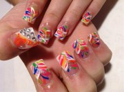 day 176 crazy colors nail art