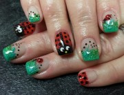 day 77 ladybug nail art - nails