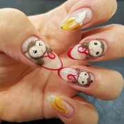 year of monkey nail art