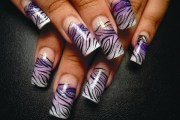 zebra nails wild - style