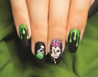 Scary Minnie Mouse Halloween Nail Art Tutorial - Style ...