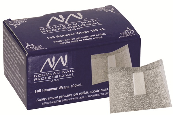 Nouveau Nail Foil Remover Wraps With Absorbent P Easily Remove Gel Polish Enhancements Acrylic Or Fabric