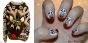 pretty nail art and ugly christmas