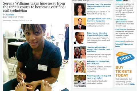 Serena Williams Foray Into Nails Made The Gossip Section Of New York Daily News