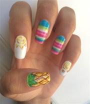sun hot nail art