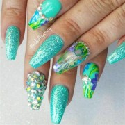 awesomely aquatic nail art design