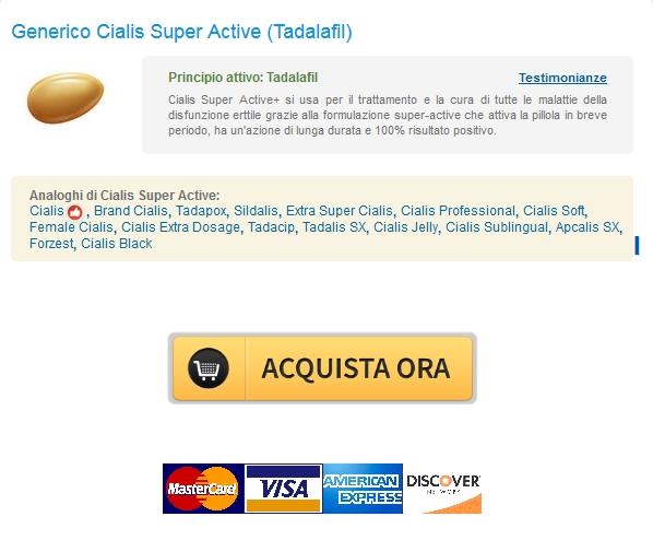 Cialis Super Active Generico Tadalafil 20 Mg