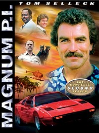 DVD cover art for Magnum, P.I.: The Complete Second Season