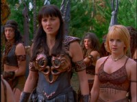 Lucy Lawless and Renee O'Connor from Xena: Warrior Princess, Season 6