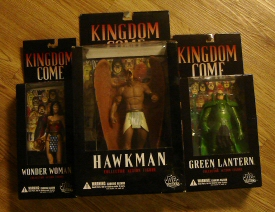 Green Lantern, Hawkman and Wonder Woman action figures from Kingdom Come by DC Direct