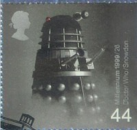 Dalek postage stamp from the UK